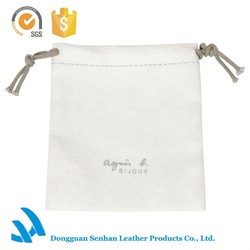 High quality soft microfiber fabric custom ladies jewelry dust bag from Senhan
