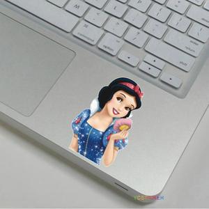 Compras en línea china de ordenador de escritorio blancanieves sticker decal para apple colorida muñeca de piel