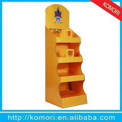 Popular komori cardboard display for mobile phone store tables