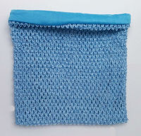 12 inch Light blue colour large size lined Crochet Tube Top baby tutu top crochet bands