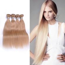 100 human hair 14 16 18 inch 3pcs wholesale brazilian hair weave, honey blonde brazilian hair weave, brazilian human hair sew i