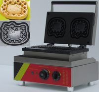 110V/220V stainless steel Commecial electric Hello kitty shape waffle maker, waffle making machine