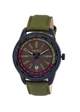 nylon-leather strap outdoor stainless steel military wrist watch