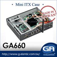 GA660 thin mini itx case/horizontal computer case/casing