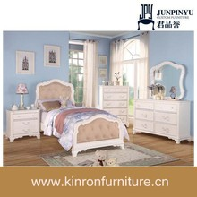 2015 high quality good price white Kids Bedroom Set