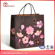 beautiful flower valentine paper shopping bag