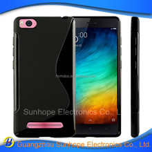 S line design tpu mobile phone cover for MIUI xiaomi Mi 4i