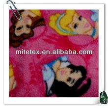 100%polyester princess printing baby blanket,fleece fabric