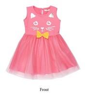 2015 Children's Wear Girl's Summer Lastest Cartoon Sleeveless Dress with Printed