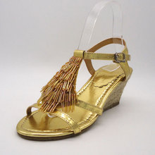 Hands made party dress concealed platform sandals