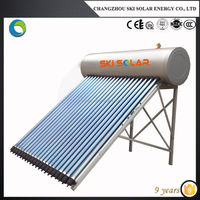 hot water heaters glass tube stainless steel tanks