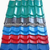 Color coated corrugated galvanized steel sheets for metal roofing tile