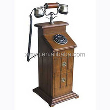 Classic Old Corded Phone Vintage Telephone Desk Stand For Office Decor