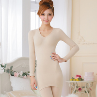 Womens Rib Knitted High Elastic Winter Thermal Heated Long Underwear