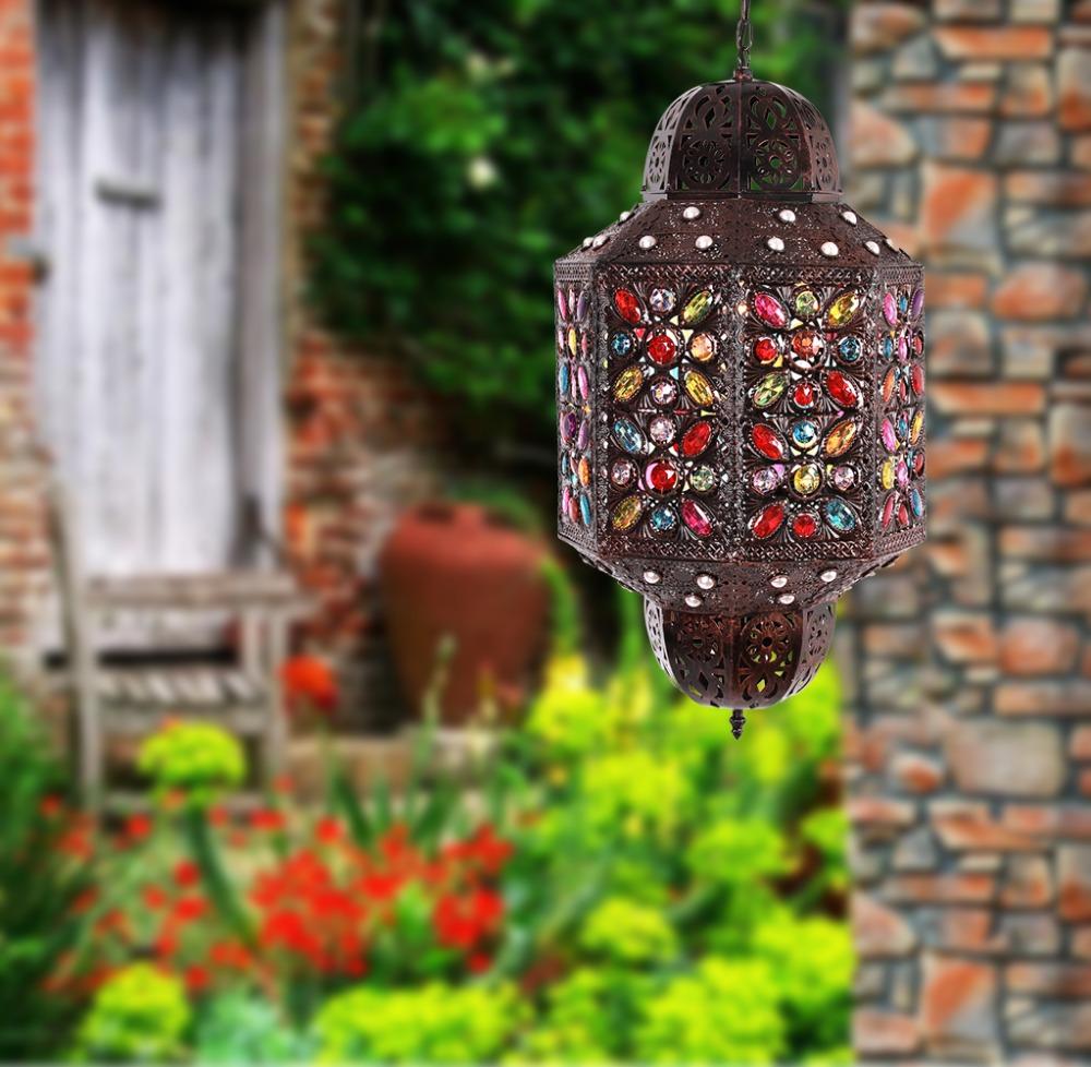 Pas Cher Hot Vente Antique Marocaine Lampe Marocaine Cuivre Lanterne Pour Jardin D Coration