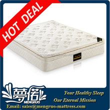 Pillow top hotel memory foam encased pocket coil mattress