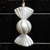 wholesale plastic candy ornaments white acrylic hanging xmas decorations