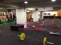 elastic non-toxic Recycled Gym Rubber Flooring Mat/Anti-Slip Rubber Mat/Wearing-Resistant Rubber Tiles