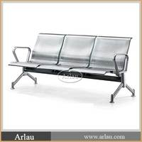 Stainless steel airport seating patio bench