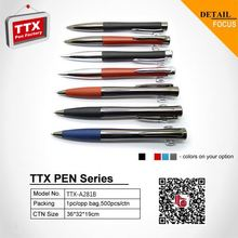 2015 Hot sale ball pen with cutom advertising plastic pen with square clip