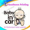 la venta caliente de alta calidad bebé en auto adhesivo pegatinas de coche