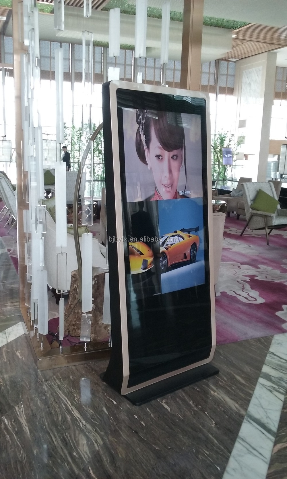 Sungard Exhibition Stand Alone : Large inch interactive info stand alone pop display