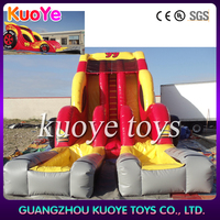 car Inflatable water slide,double lane water slide,inflatable water slide china