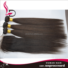 High quality virgin remy natural straight hair human hair extension silk straight hair weft natural Brazilian human straight