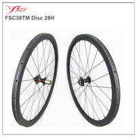 700C disc carbon wheels 38mm tubular rims for racing cyclocross bike, hot sale customized road wheels 28H/28H 3 crossing spokes