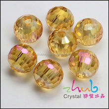 Wholesale fine faceted beads glass curtain beads crystal chandelier accessory for garment decoration