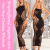 New Design Wholesale Zig Zag Shred Seamless Long Dress Japan Lingerie Sexy
