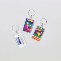New style promotion acrylic keyring cheap plastic acrylic keychain insert photo
