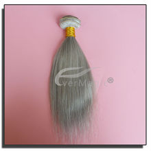 New arrival color grey 100% human brazilian hair weaving extensions, alibaba express wholesale shenzhen qingdao guangzhou
