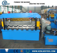 Colour Roof Panels Roll Forming Machines, Automatic Roll Forming Machine For Wall And Roof