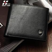 QB110 money bag leather purse travel smart wallet for men