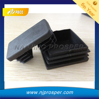 Black rectangular plastic caps for chair legs protector