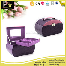 Cooperate Promotional Popular New Design PU Leather locked jewelry storage
