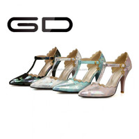 Simple women sandasl high heel girl dress shoe 2015
