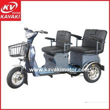 Kavaki small 3 wheel electric scooter / electric auto rickshaw for elder / electric tricycle with passenger seat