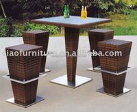 fashionable design wicker rattan outdoor bar furniture dubai