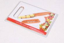Yangjiang color plastic handle non-stick coating paring knife with plastic board