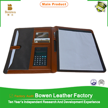 TYWEN - 0008 Organizer Cover With Ring Binder In PU Leather/ PU Leather Ring Binder With Handle