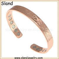 Copper Band Magnetic Therapy Bracelet Cuff Golf Bracelet for Men Women Arthritis Joint Pain Relief Aid,SLand Jewelry Provide