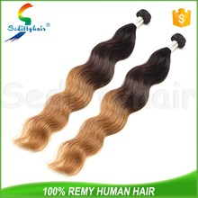 2015 best selling high quality ombre body wave 50 inch virgin queen hair
