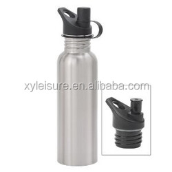 750ml Wide Mouth Satin Finish Stainless Steel Water Bottle with Sport/loop Cap