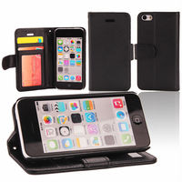 book style wallet leather mobile phone case cover for iphone 5C