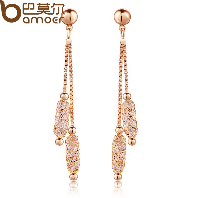 2014-Aliexpress-Hot-Sell-Luxury-Champagne-Gold-Plated-Drop-Earrings-Crystal-Women-Fashion-Jewelry-Birthday-Gift