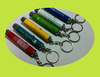 aluminum and plastic led mini customed logo projects keychain led torch keyring keychains with led display/uv led keychain