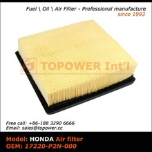OEM 17220-P2N-000 different types forklift air filter for Japanese car