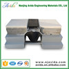 Recessed aluminum floor cement expansion joint filler